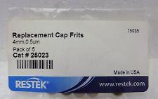 5 Replacement Cap Frit Filters Trident Guard Cartridges Restek 25023 4mm 05um