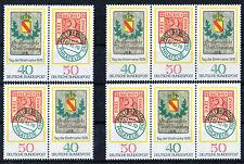 Bund 980 - 981 postfrisch alle Zusammendrucke W Zd 1 - W Zd 4 Tag der Briefmarke