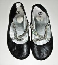 Play House Black Elegant Rhinestone Criss-Cross Strap Ballet Party Flats Shoes 2