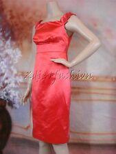 $2820 New VERSACE Sexy Satin Salmon Pink Empire Cotton Silk Sheath Dress 40 6