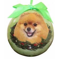 Pomeranian ~ Christmas Ball Ornament Set Of 2