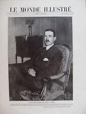 MONDE ILLUSTRE 1920 N 3259 LE ROI ALEXANDRE DE GRECE