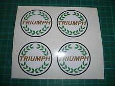 TRIUMPH Wheel Centre Stickers - set of 4.  Herald,Spitfire, TR6, TR7
