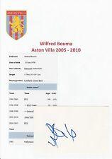 WILFRED BOUMA ASTON VILLA 2005-2010 ORIGINAL HAND SIGNED CUTTING