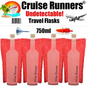 Cruise Ship Flask Kit Rum Runners Sneak Smuggle Alcohol Liquor Booze Plastic Bag