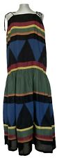 QUEENE AND BELLE MAXI PRINTED COTTON SUMMER DRESS, L, $1100