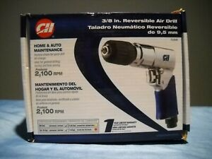 "NEW CAMPBELL HAUSFELD TL0545 3/8"" AIR DRILL REVERSIBLE KEYLESS CHUCK COMFORTGRIP"