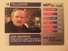 For Your Eyes Only Aris Kristatos #16 Villains - 007 James Bond Spy Files Card
