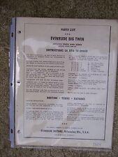 1954 Evinrude Big Twin 25012 25013 Motor Outboard Parts List Motors 70001 +    L
