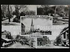 Walsall: Bridge Street, Market, Arboretum, Multiview c1953 RP - ALL IMAGES SHOWN