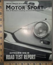 1960 Citroen Brochure Motor Sport