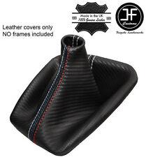 Punto blanco de fibra de carbono mirada Gear Polaina se Ajusta BMW E36 E46 91-05 M // Puntada