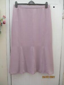 """ROMAN ORIGINALS lilac chiffon/sheer lined long length skirt size 20 waist 36/38"""""""