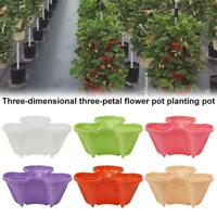 Stackable Strawberry Herb Garden Planter Flower Veg Pots Home Decor DIY