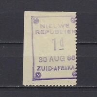 NEW REPUBLIC SOUTH AFRICA 1886, SG# 2, CV £30, Date '30 AUG 86', signed, MH