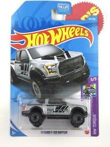 2021 Hot Wheels Silver 🔥 '17 Ford F-150 Raptor🔥 , Raptor Logo HW Torque 5/5