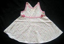 GEORGE Mädchen Babykleid Gr. 0-3 Monate weiß mit Punkte gemustert