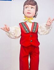 Vintage animated mechanical store display figure little boy 31in tall very rare.