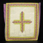 Bourse liturgique de carporal messes catholiques traditionalistes, violet silk
