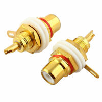 2 Pcs RCA Terminal Jack Female Chassis Panel Connector for Amplifier Speaker