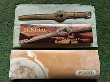 FOSSIL COLLECTION SD-1 CAMEL LEATHER STRAP SUNDIAL WRIST WATCH