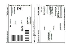 Original Hermes Etiketten Versandetiketten Klebeetiketten Paket 10-200 Stück
