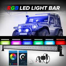 5D 32inch 600W RGB CREE LED Light Bar Halo Ring MultiColor Offroad Truck Fog 42