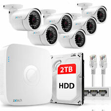 6 Full HD 2MP 1080P Outdoor IP Camera & 8 CH NVR PoE P2P UK CCTV Kit 2TB OE86DB2