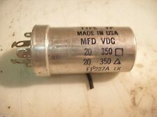 MALLORY FP 227A FP227A 20-20-350V CAPACITOR 20-20MFD-350VDC