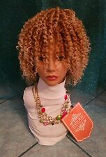 new style hot sale blonde color synthetic dreadlock curl wig