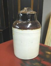 """Vintage """"THE WEIR Pat. MAR 1st 1892"""" Pottery Stoneware Canning Jar with Bale"""