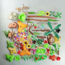 PLAYMOBIL ® - la raccolta di piante, piastra di base, fiori, Palma, rocce (916)
