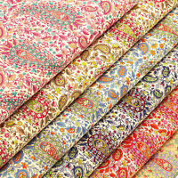 Cotton Print Fabric FQ Vintage Paisley & Retro Floral Quilt Patchwork Craft VK80