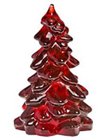 MOSSER GLASS CHRISTMAS TREE RUBY RED LARGE 8 INCH