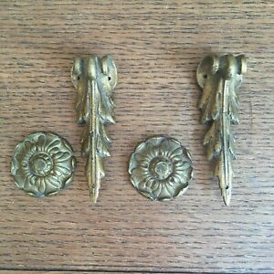 Two Pairs of Antique French Bronze Furniture Embellishments.