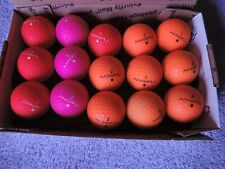 N 15 Maxifli Softfli orange, pink and red golf balls
