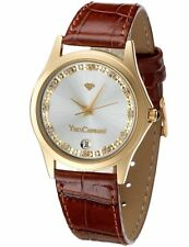 YVES CAMANI Golden Twinkle Ladies Watch Gold Plated Zirconia Crystals (11b)