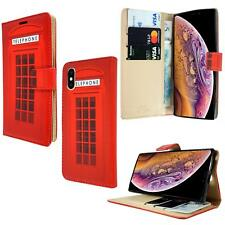 New Telephone Booth Print Flip Wallet Phone Case Cover For Mobile Phone Models