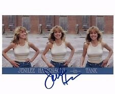 Jenilee Harrison Signed 8x10 Photo in TANK -  Star of Three's Company BABE H484