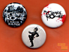 "Set of three 1"" My Chemical Romance pins buttons Welcome to the Black Parade MCR"