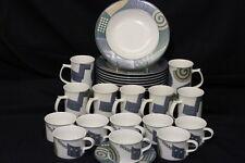 MINT 24 Pc Set John Bergen Mikasa Modern LIFESTYLE Mixed Lot Mugs, bowls