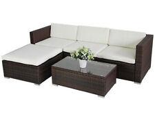 Garten-Lounge-Sets aus Polyrattan mit 6 Teile