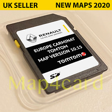 RENAULT TomTom CARMINAT NAVIGATION SD CARD EUROPE + UK MAP V10.15 2019 - 2020