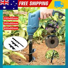 Planter Garden Auger Hole Digger Power Earth Drill Bit Post Φ80 x 250/300/600 mm