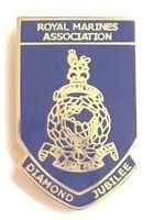 Royal Marines Diamond Jubilee Military Enamel Lapel Pin Badge