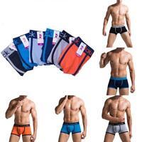 Men Cotton Breathable Underwear Boxer Briefs Shorts Bulge Pouch Underpants.