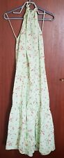 Zara Lime Green Floral Printed Halter Neck Tie Low Back Dress SIZE M BNWT SS20
