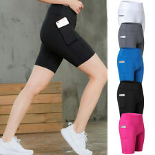Women's Sports Yoga Shorts with Pocket High Waist Compression Slim Fit Tights AU