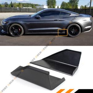 For 15-2020 Ford Mustang MD Style Blk Side Skirt Rocker Panel Winglet Splitters