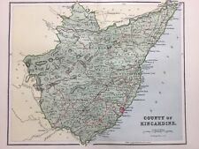 Kincardine, Antique County Map c1900, Scotland, Atlas, Aberdeen, Stonehaven